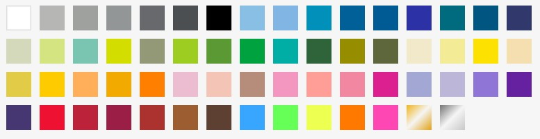 印刷可能な色